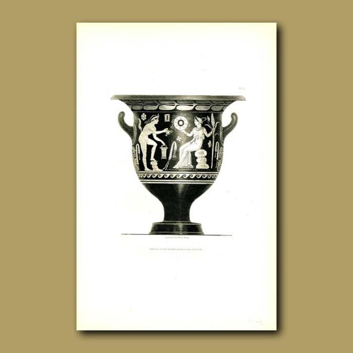 Antique print. Etruscan vase (IV)