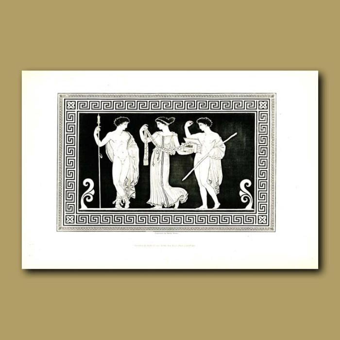 Antique print. Etruscan vase (V)