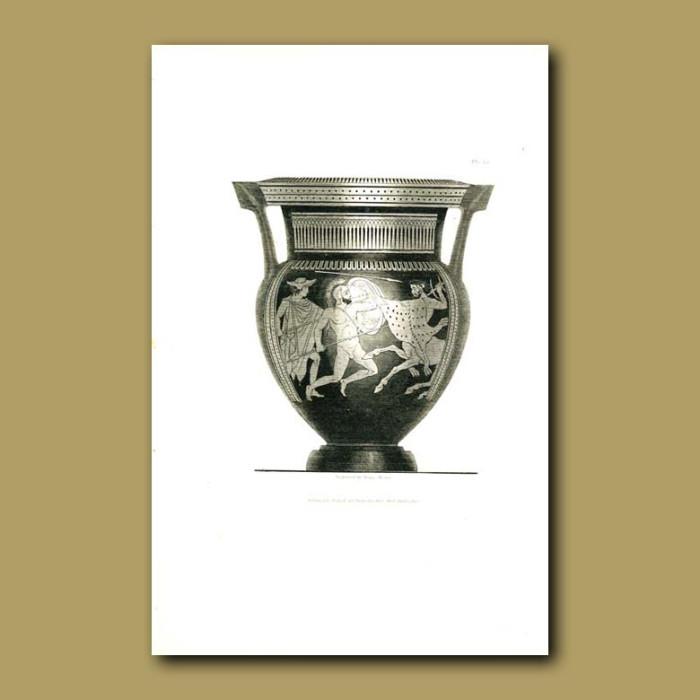 Antique print. Etruscan vase (VII)