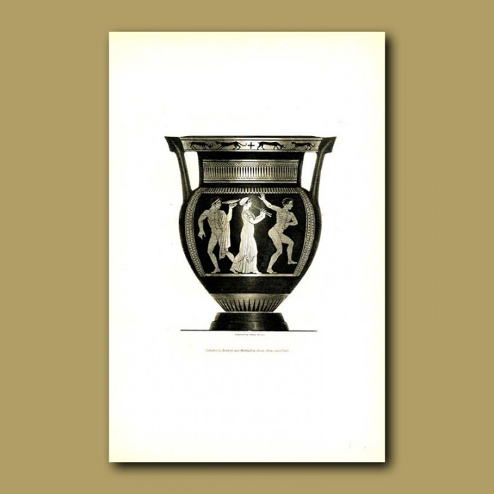 Antique print. Etruscan vase (VIII)