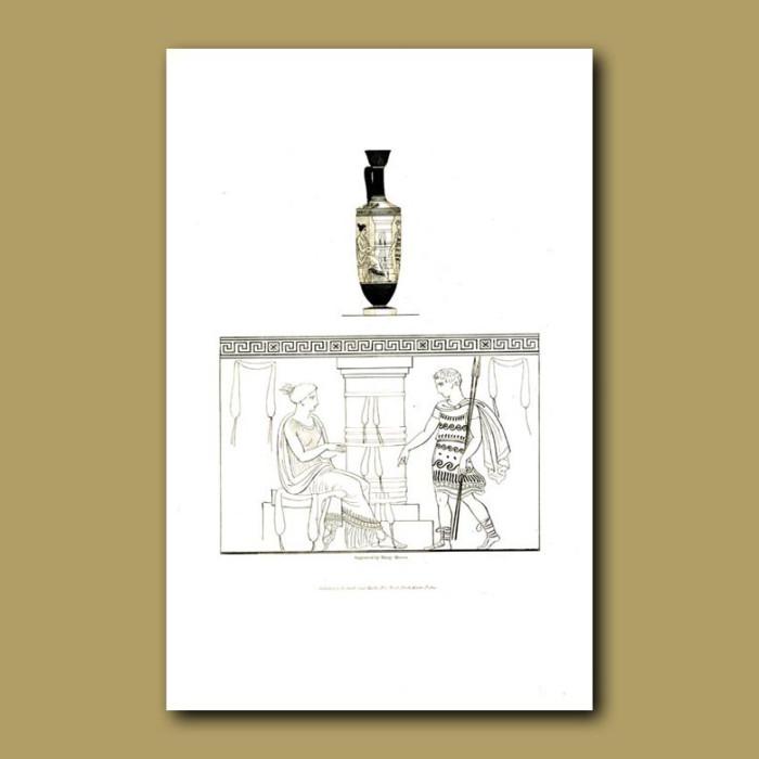 Antique print. Etruscan vase (XXI)