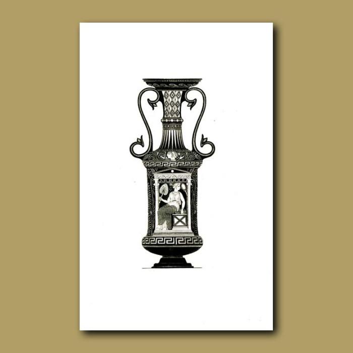 Antique print. Etruscan vase (XXII)