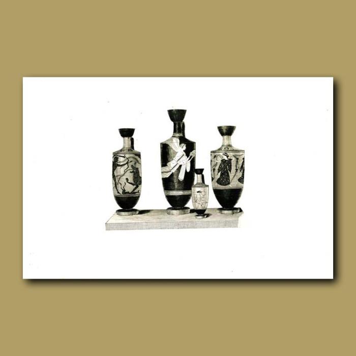 Antique print. Etruscan vase (XXIV)