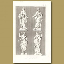 Statues illustrating different togas