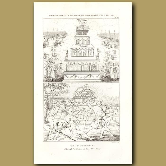 Antique print. Magnificent ceremonies