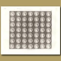 Roman coins. (Double sized print)