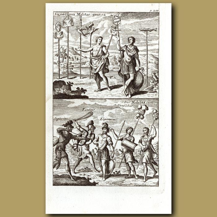 Antique print. Roman circus