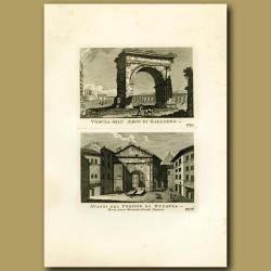 Views of the Arco di Gallieno