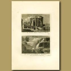 Temple of Sibilla and Waterfalls at Tivoli