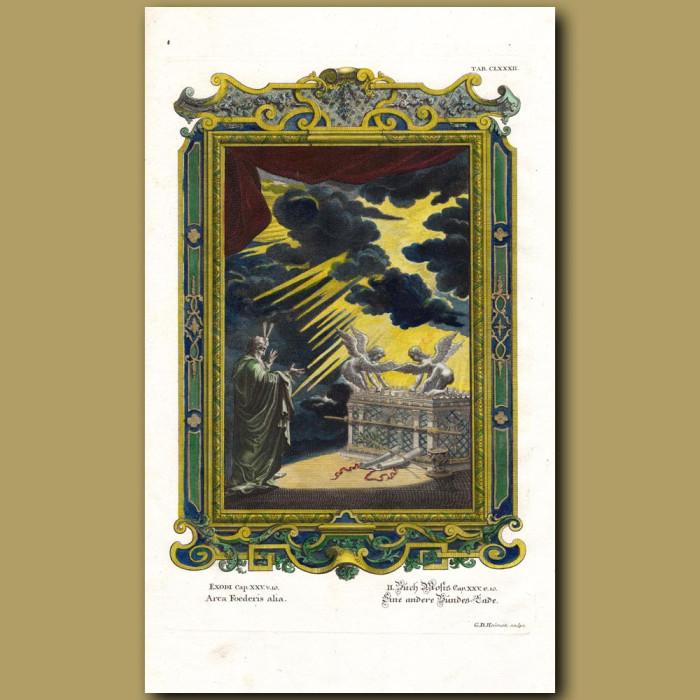 The Ark of The Covenant (Arca Foederis Alia): Genuine antique print for sale.