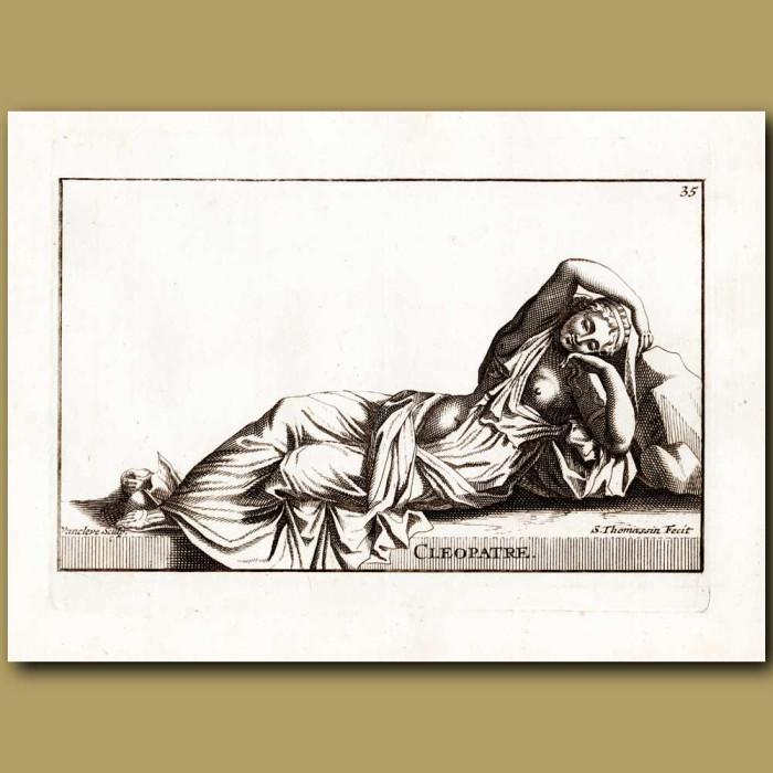 Antique print. Cleopatra