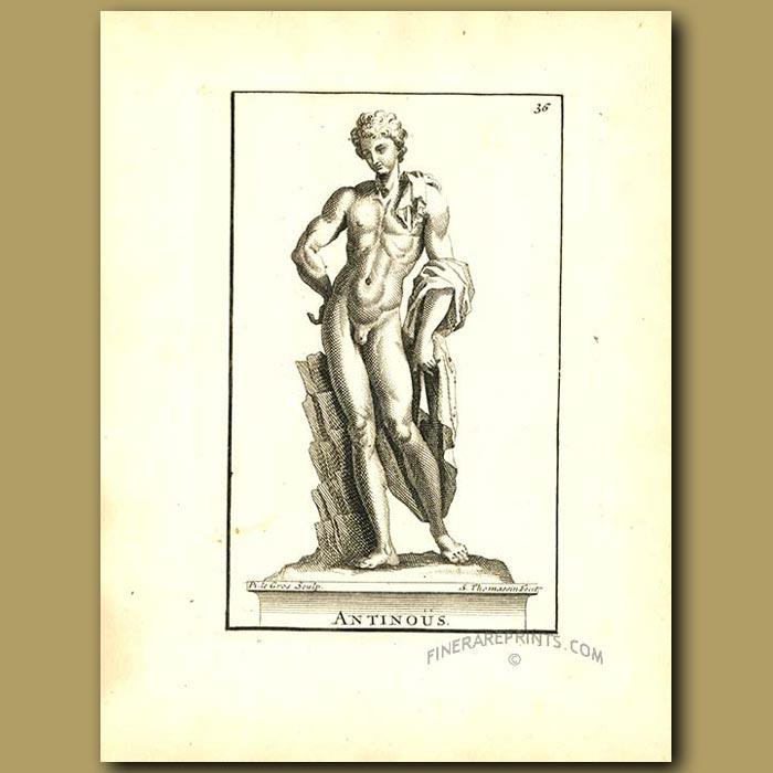 Antique print. Young Antonius
