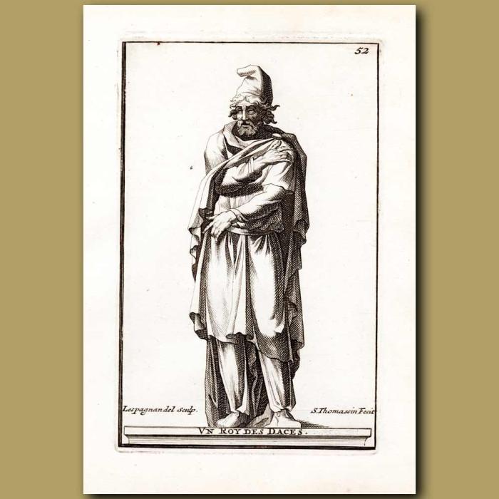 Antique print. Ancient King