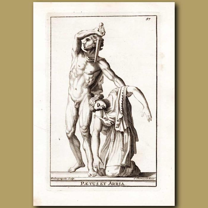 Antique print. Arria and Paetus