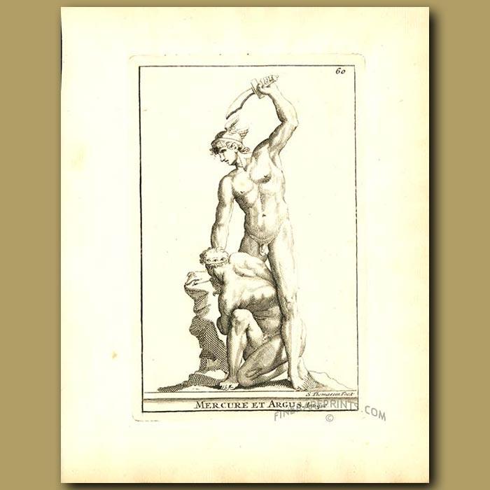 Antique print. Mercury and Argo