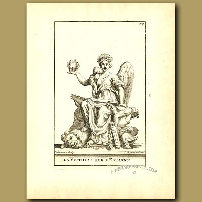Antique print. The victor of Spain