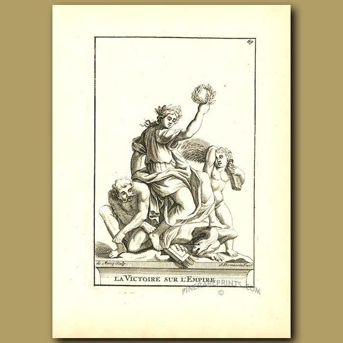 Antique print. Victory of the Empire