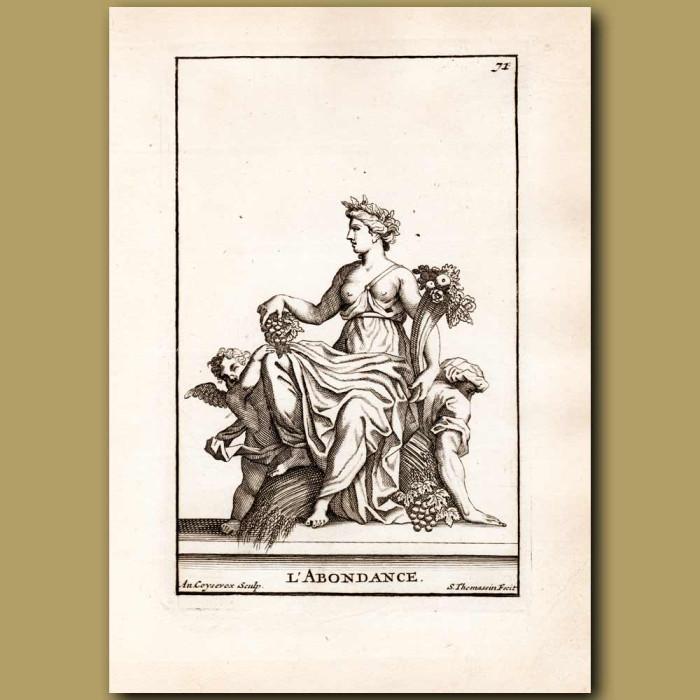 Antique print. Goddess of abundance