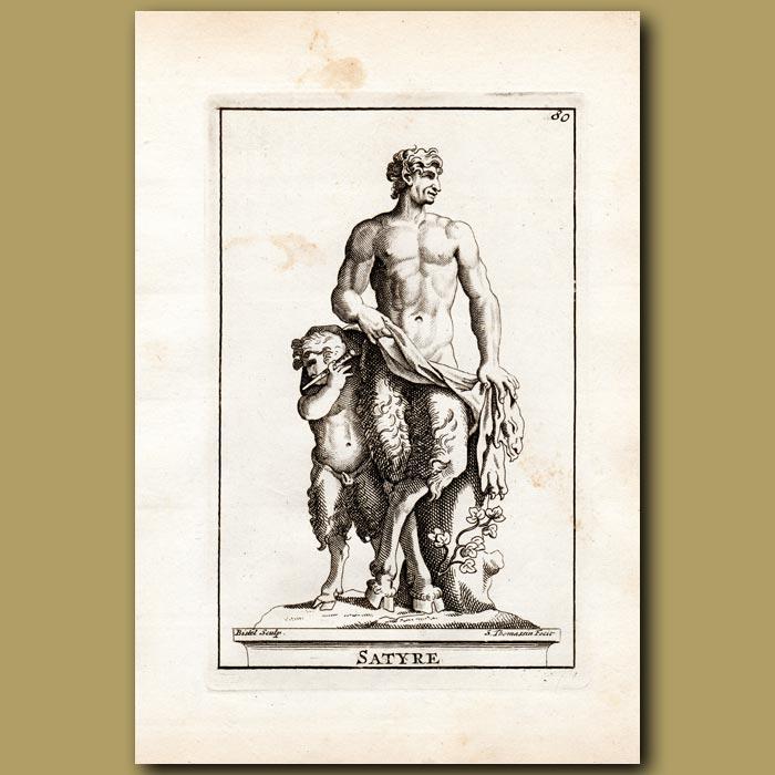 Antique print. Satyr