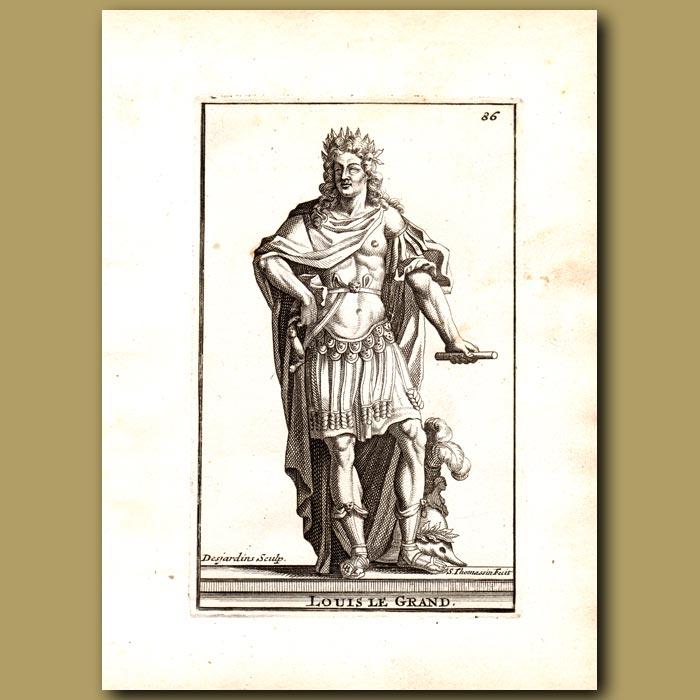 Antique print. Louis the Great