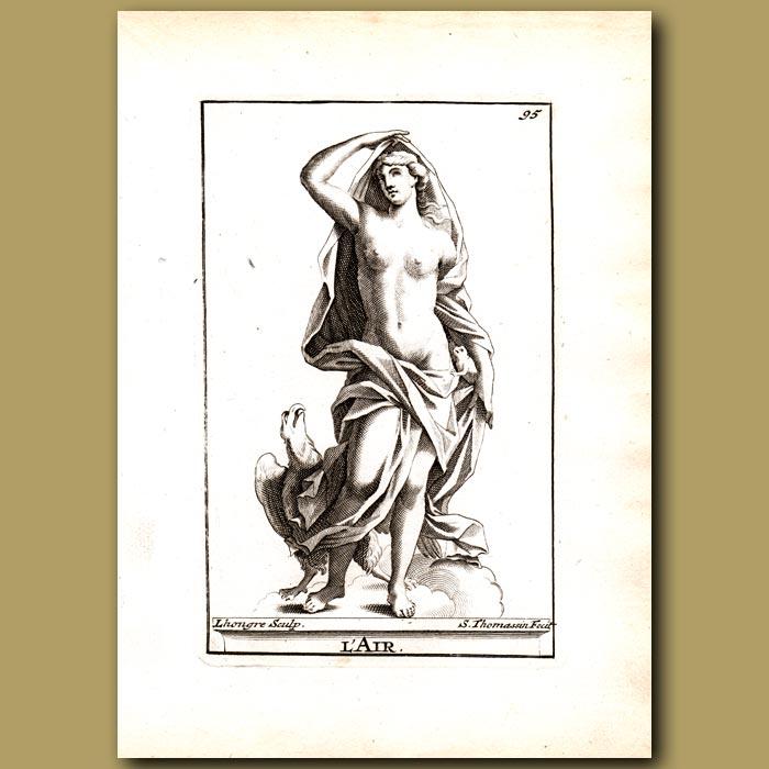 Antique print. Hera, Goddess of Air