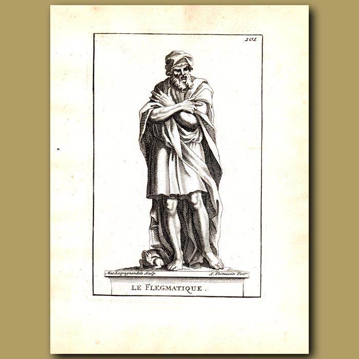 Antique print. Phlegmatic