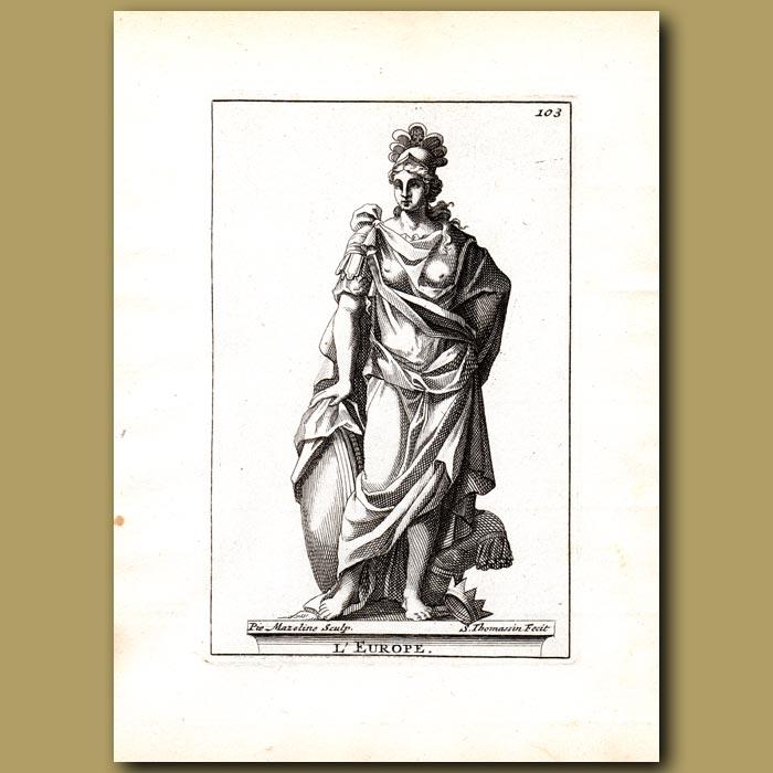 Antique print. Europe
