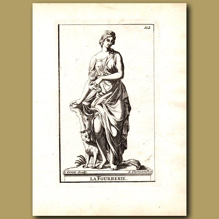 Antique print. Deception
