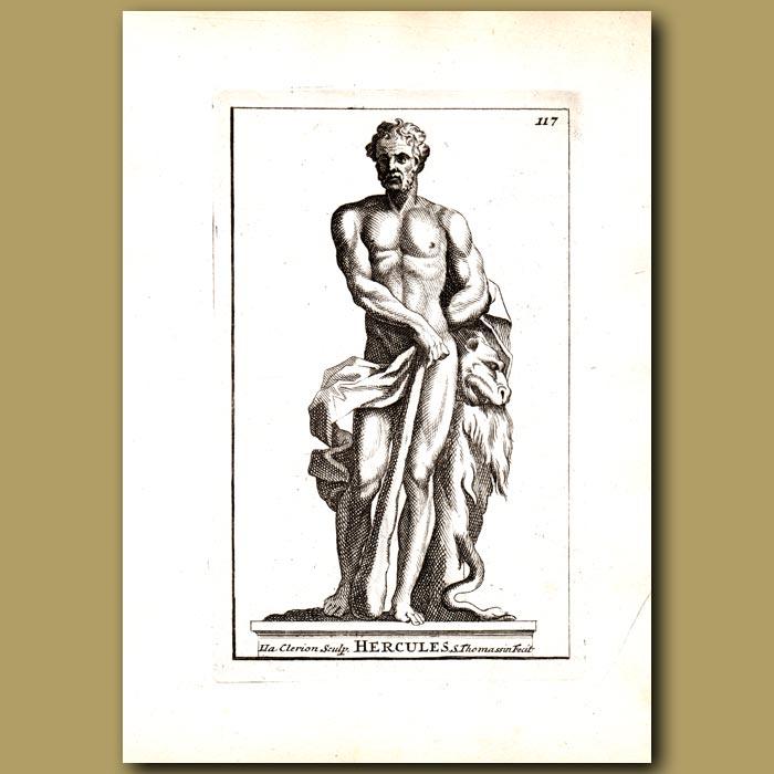 Antique print. Hercules