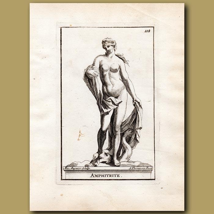 Antique print. Amphitrite – sea goddess