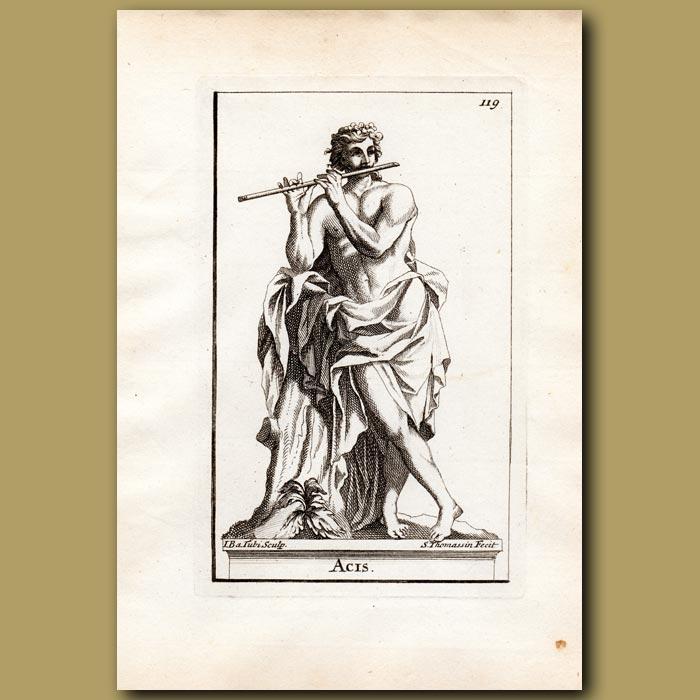 Antique print. Acis – son of Pan