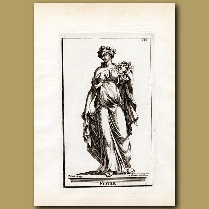 Antique print. Flora