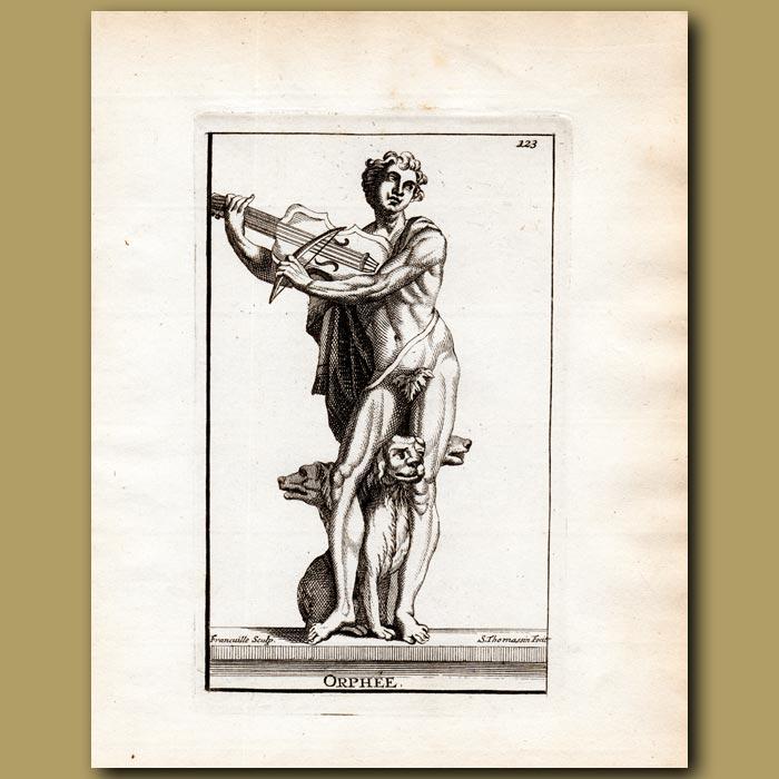 Antique print. Orpheus