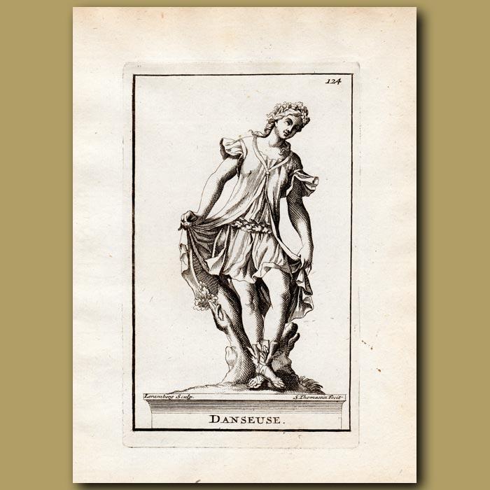 Antique print. Dancer