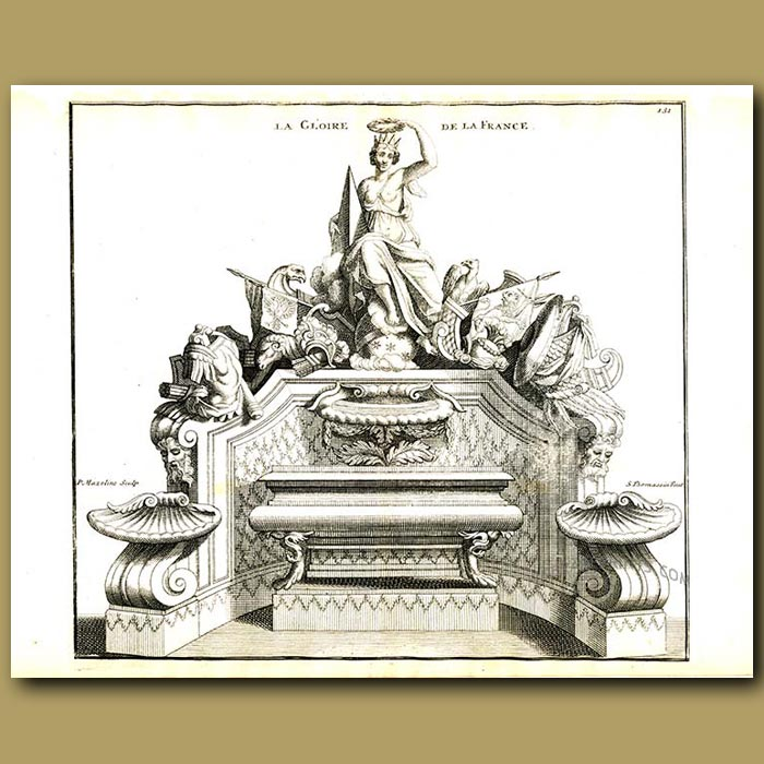 Antique print. The Glory of France