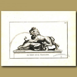 Lion and boar fountain