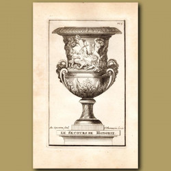 Marble Vase with the Rescue of Hungary