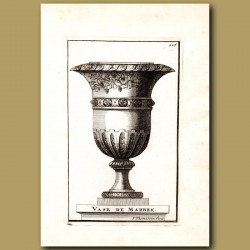 Marble Vase with Grapes