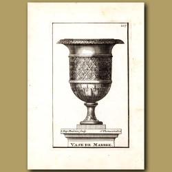Marble vase with the Fleur de Lis
