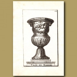 Marble Vase with Panpipes