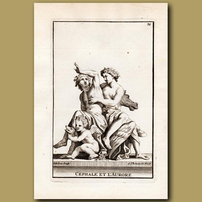 Antique print. Cephalus and Procris