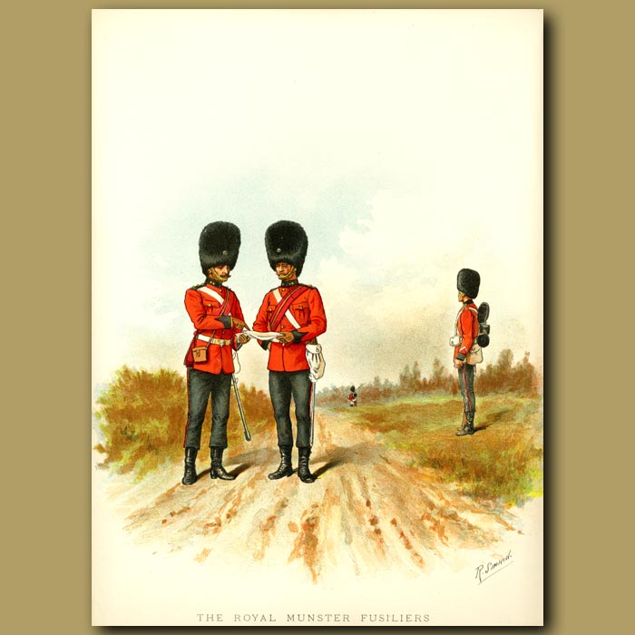 Antique print. The Royal Munster Fusiliers (101st And 104th Foot)