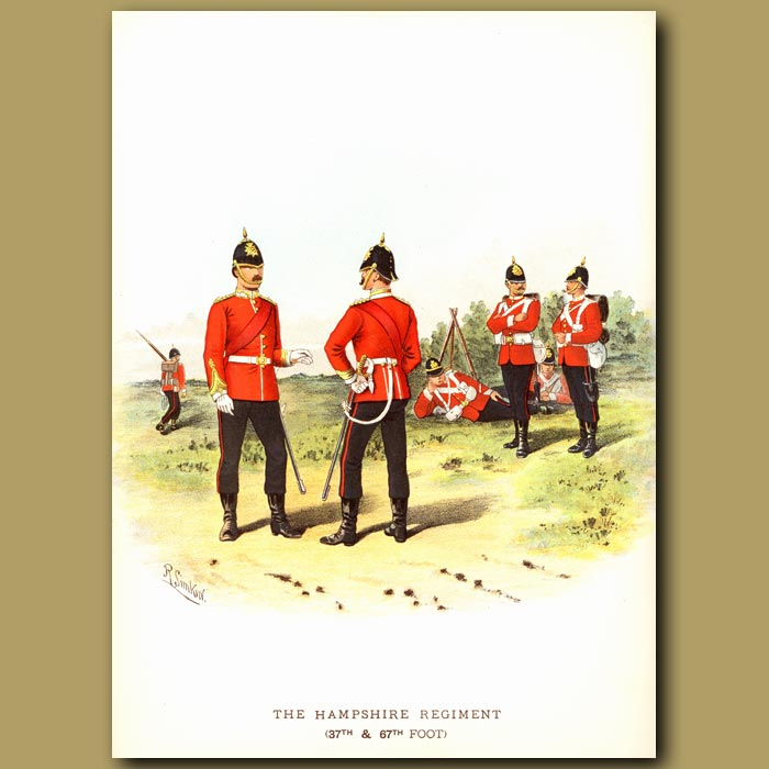 Antique print. The Hampshire Regiment (37th And 67th Foot)