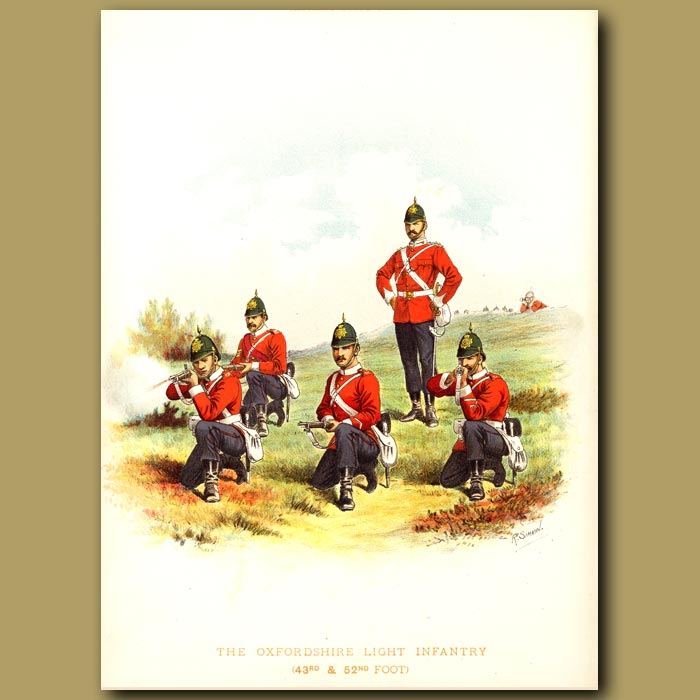 Antique print. The Oxfordshire Light Infantry (43rd And 52nd Foot)