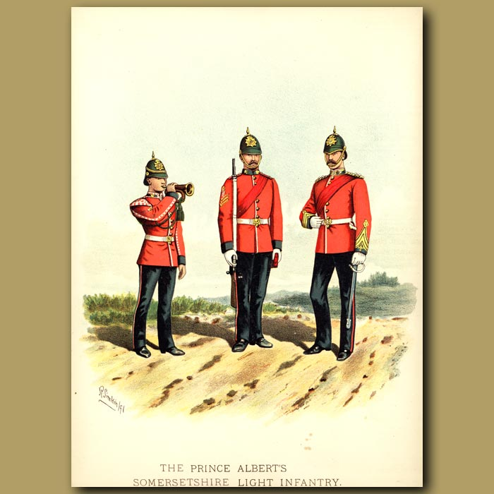 Antique print. The Prince Albert's Somersetshire Light Infantry