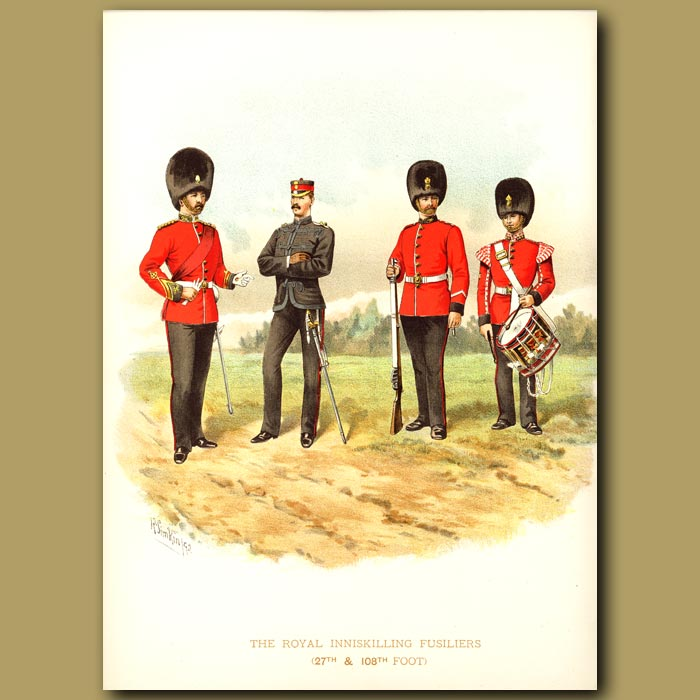 Antique print. The Royal Inniskilling Fusiliers (27th And 108th Foot)