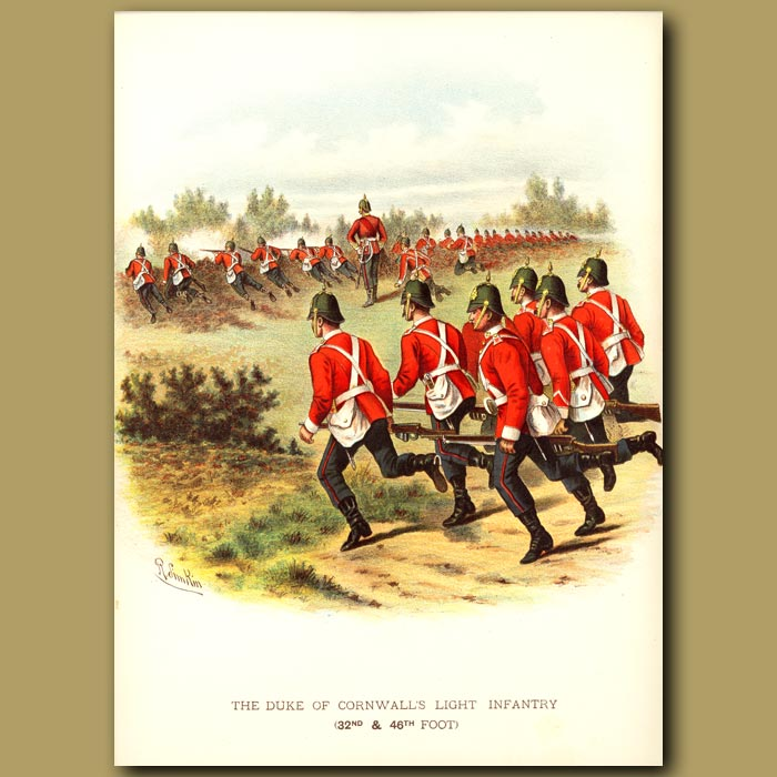 Antique print. The Duke Of Cornwall's Light Infantry (32nd And 46th Foot)