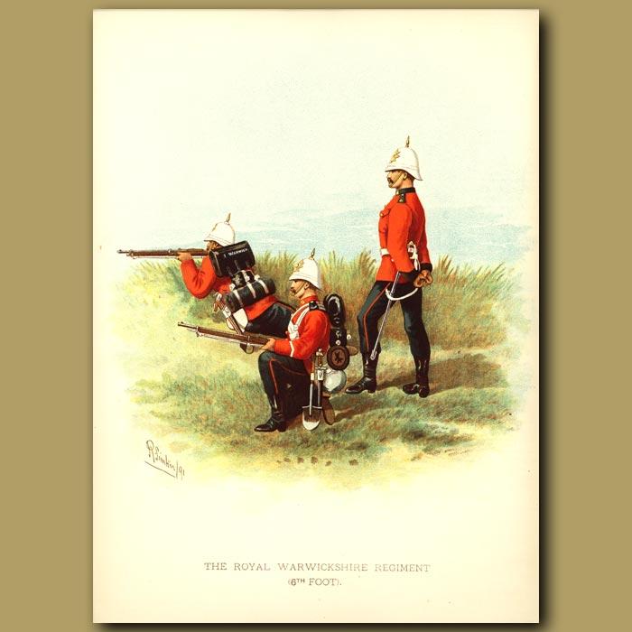Antique print. The Royal Warwickshire Regiment (6th Foot)