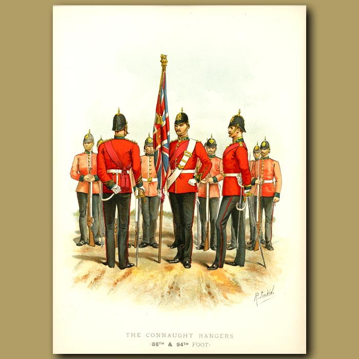Antique print. The Connaught Rangers (88th And 94th Foot)