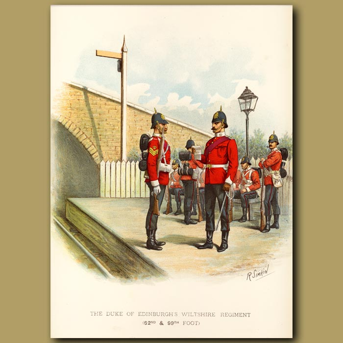 Antique print. The Duke Of Edinburgh's Wiltshire Regiment (62nd And 99th Foot)